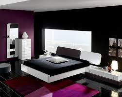 ... Fabulous Pictures Of Black And Blue Bedroom Design And Decoration Ideas  : Wonderful Modern Purple Black ...