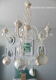 diy whimsical teacup chandelier mythriftaddiction blo com create a unique chandelier using ribbon and