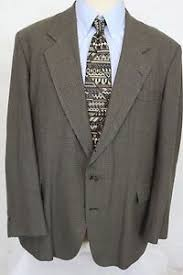 Details About Haggar Brown Checkered Three Button Mens Wool Tweed Sport Jacket Size 46 L