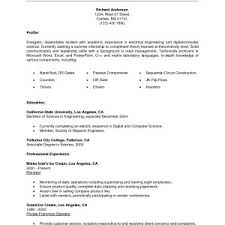 Resume Sample With Internship Experience New Science Internship ...