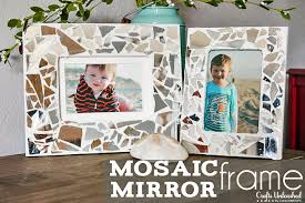 diy mosaic mirror picture frames tutorial