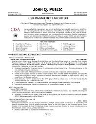 Risk Management Resume Free Resume Templates 2018