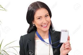 Photo Id Stock Picture 36056860 Her Free Image Happy And Delegate Royalty Showing Card Business Image