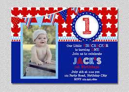 4th birthday invitation 4th of july birthday invitation fireer birthday