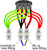 looped in lighting wiring the ceiling rose two lamps controlled by one switch in parallel at To One Switch Two Lights Wiring