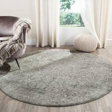 6 7 x round rug evk256s evoke area rugs by safavieh