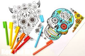 Just print out any of día de los muertos, day of the dead, is a holiday originally celebrated in the southern and central. Day Of The Dead Coloring Pages For Grown Ups Kids