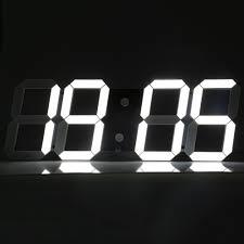 modern big led digital wall clock