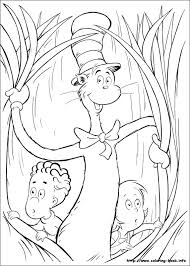 Small Picture Cat In The Hat Coloring Pages Coloring Book of Coloring Page