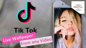 use tik tok videos as a live wallpaper