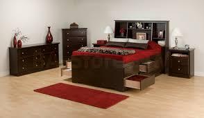 Prepac Bedroom Furniture Prepac Full Double 12 Drawers Tall Platform Storage Bed Espresso