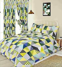 lime green yellow blue patchwork
