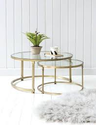Glass nesting coffee tables Tempered Glass Glass Nesting Coffee Tables Table Nest Round Wood Top Steel About Geometric Yourlegacy Glass Nesting Coffee Tables Table Round Gold Black Nest Yourlegacy