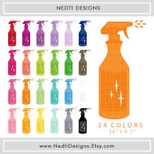 Decorative Spray Bottle 100 Spray Bottle Clipart Colorful Rainbow Color Cleaning Clip 15