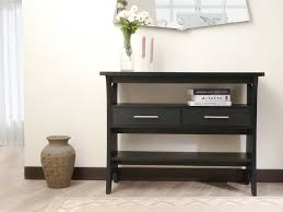 Black Console Table With Drawers Furniture Of America Cosbin Bold