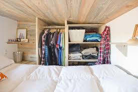 design choices tiny house loft closet space
