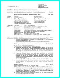 computer programmer resume samples sample computer science resume entry level sample computer