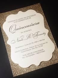Invitations Quinceanera Quinceanera Invitation Glitter Quinceanera Invitations