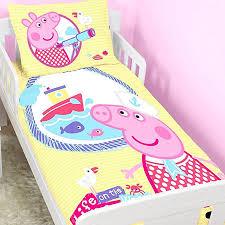 Peppa Pig Bedroom Accessories Peppa Pig Toddler Bedding Nautical Ebay