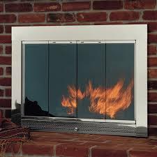 amazing fireplace doors black gen4congress for modern fireplace doors