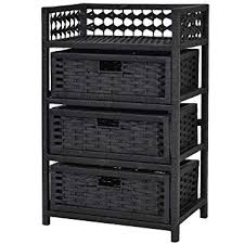 wicker basket shelves. Interesting Shelves Storage Unit Tower Shelf Wicker Baskets Chest Rack Black 3 Drawer And Basket Shelves K