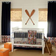 custom crib bedding nursery traditional with fabric ottomans jute sisal curtain panel pairs