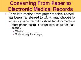 Medical Chart Shredding Chapter 14 Electronic Medical Records Ppt Download