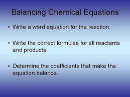 chemical equations worksheet