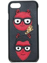 Mens Designer Phone Cases Iphone 7 Dolce Gabbana Devil Face Iphone 7 Case Black In 2019