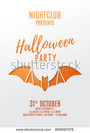 paper flyer dark halloween party poster vector illustration stock vector