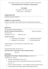 Resume Template Format