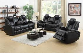 black leather reclining sofa. Interesting Reclining Black Leather Power Reclining Sofa And Loveseat Set On E