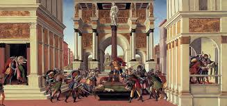 sandro botticelli painting the story of lucretia by sandro botticelli