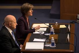 Sally Q. Yates, the former acting attorney general, and James R. Clapper  Jr., the former director of national intelligence. Credit Stephen  Crowley/The New ...