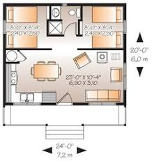 Simple Two Bedrooms House Plans for Small Home   Modern Mini st    Tiny Houses Floor Plans  Cabin House Plans  House Floor Plans  Cabin Floor Plans With Loft  Ft Cabin  Farm Cabin  Log Cabin  Houseplans  Plan