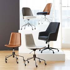 upholstered office chairs. Modren Office Slope Upholstered Office Chair West Elm Pertaining To Plan 10 Intended Chairs B