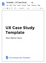 Case File Template Ux Case Study Template How To Write A Ux Case Study In 4 Steps