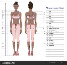 woman body measurement chart scheme measurement human body sewing