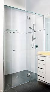 frame less shower screen with centre door