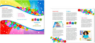 Sample Preschool Brochure Daycare Brochure Besikeighty24co 3