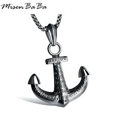 picture of an anchor to color new cross anchor necklace men black gold silver color