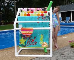 image of pool towel rack pvc