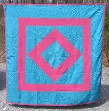 Lancaster Co. Amish Diamond in Square Quilt & Amish Diamond in Square Quilt Adamdwight.com