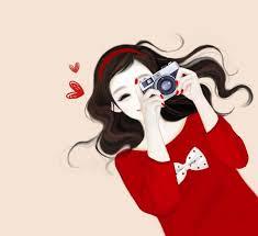 ♥➷♥¸.•´♥¸.•¸.•´¸♥➷♥¸.•´♥¸.• | Cute girl drawing, Cute cartoon girl, Girly  art