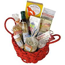 the new englander lobster rope gift basket filled with new england