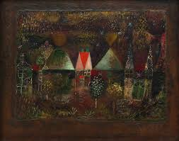 curved painting night feast by paul klee