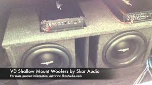 skar audio dual ported vd subwoofer setup clean loud skar audio dual ported vd 10 subwoofer setup clean loud