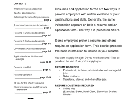 Resume Template In Word Format Professional Simple Resume Template