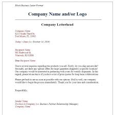 Proper Business Letter On Letterhead 7 Format Examples Templates