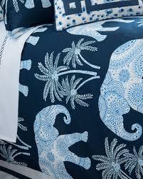 king ellie elephant print duvet cover